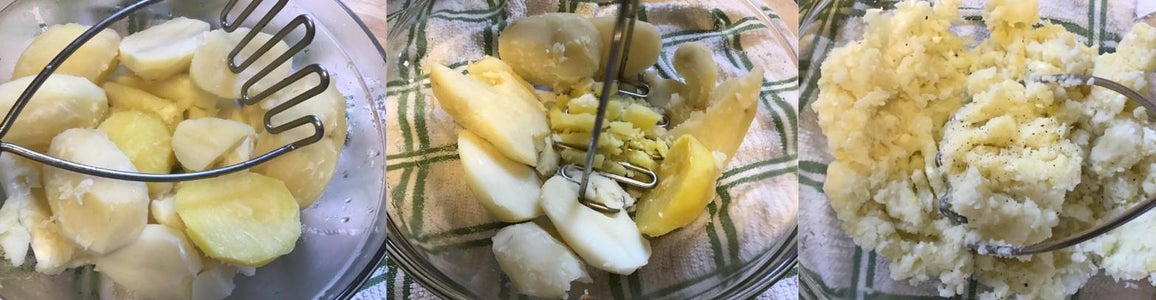 "Making the Potato ""dough"""