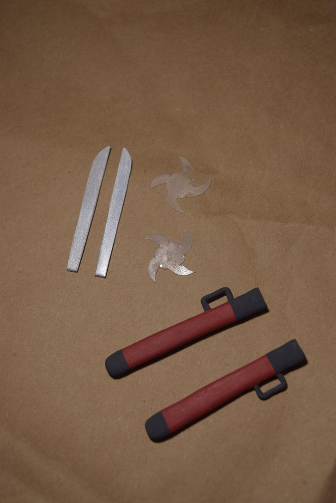 Painting (Scabbards, Sword Blade, Hand Guards)
