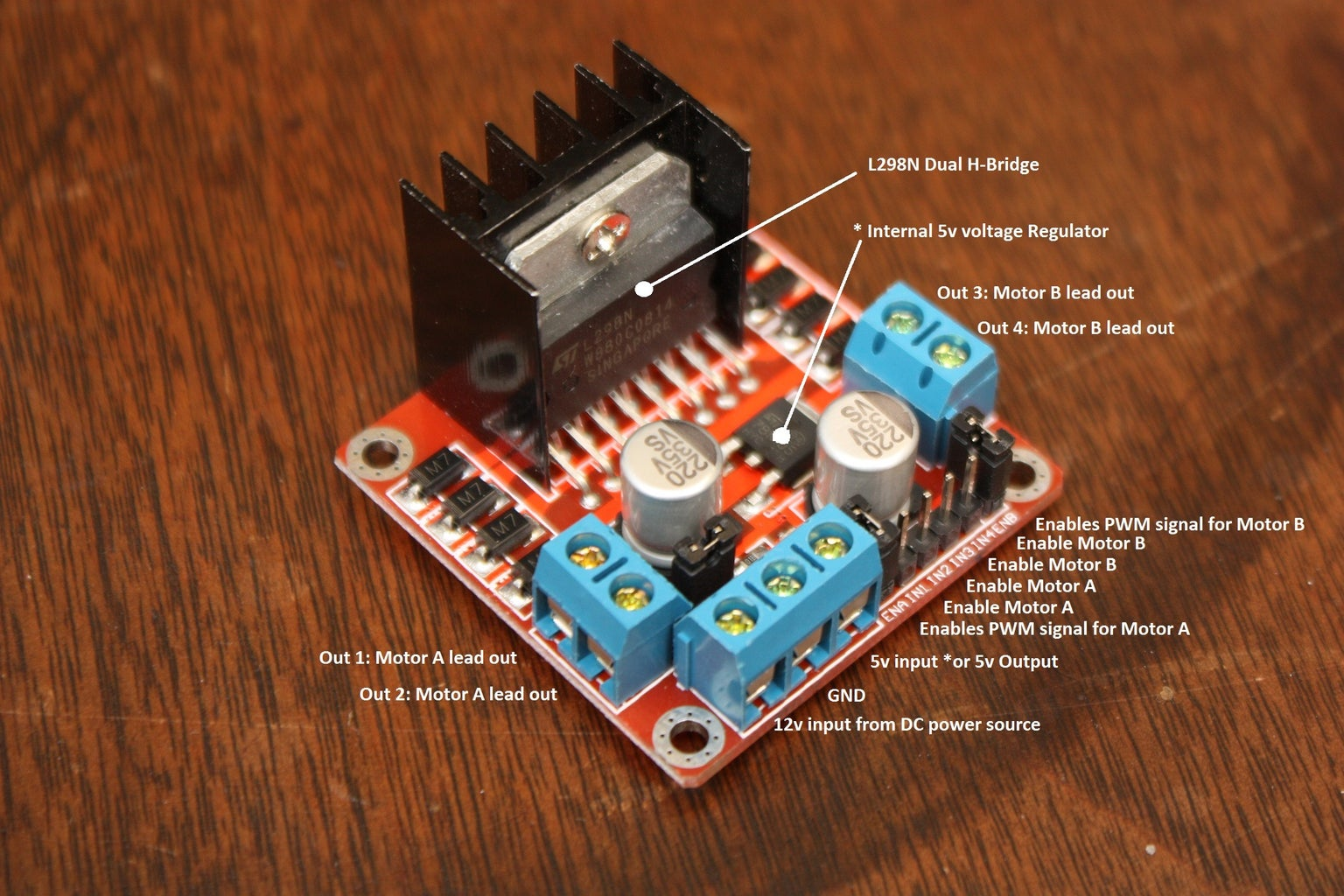 Getting to Know Your L298N Dual H-Bridge Motor Controller Module: