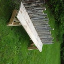 Rough Wood Outdoor Bench