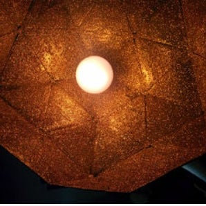How to Create a Glittery Metal Lamp Using Paper