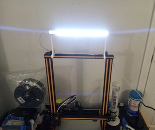 Lift Gate LED Lighting Fixture for Creality CR-10 & Ender 3 3D Printers