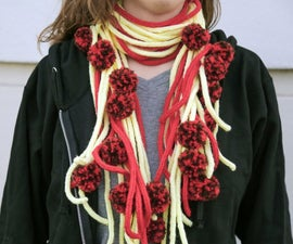 Spaghetti and Meatball Knit Scarf
