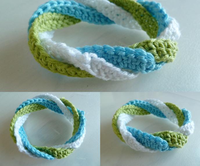 Infinite circles crochet bracelet