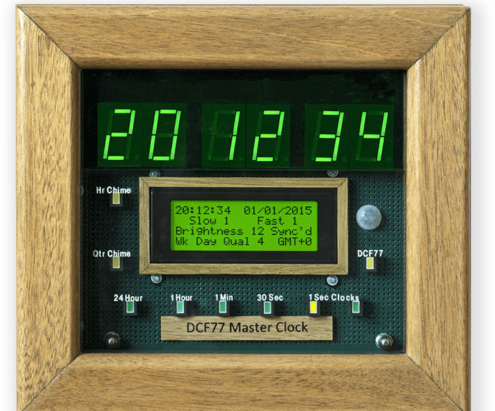 Arduino DCF77 Master Wall Clock