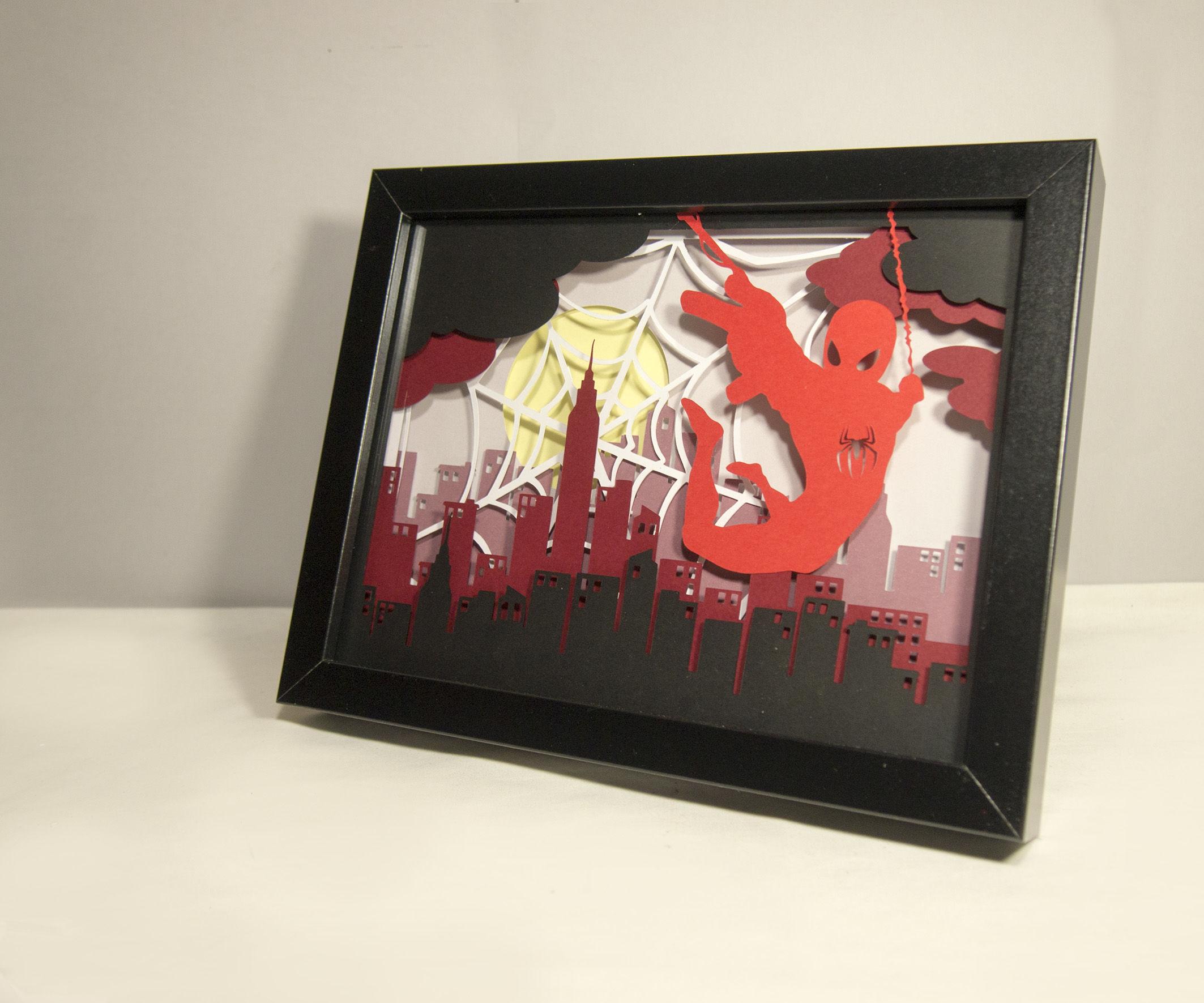 Spiderman Papercut Frame