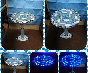 Homemade Corner Shelf Light Up Table