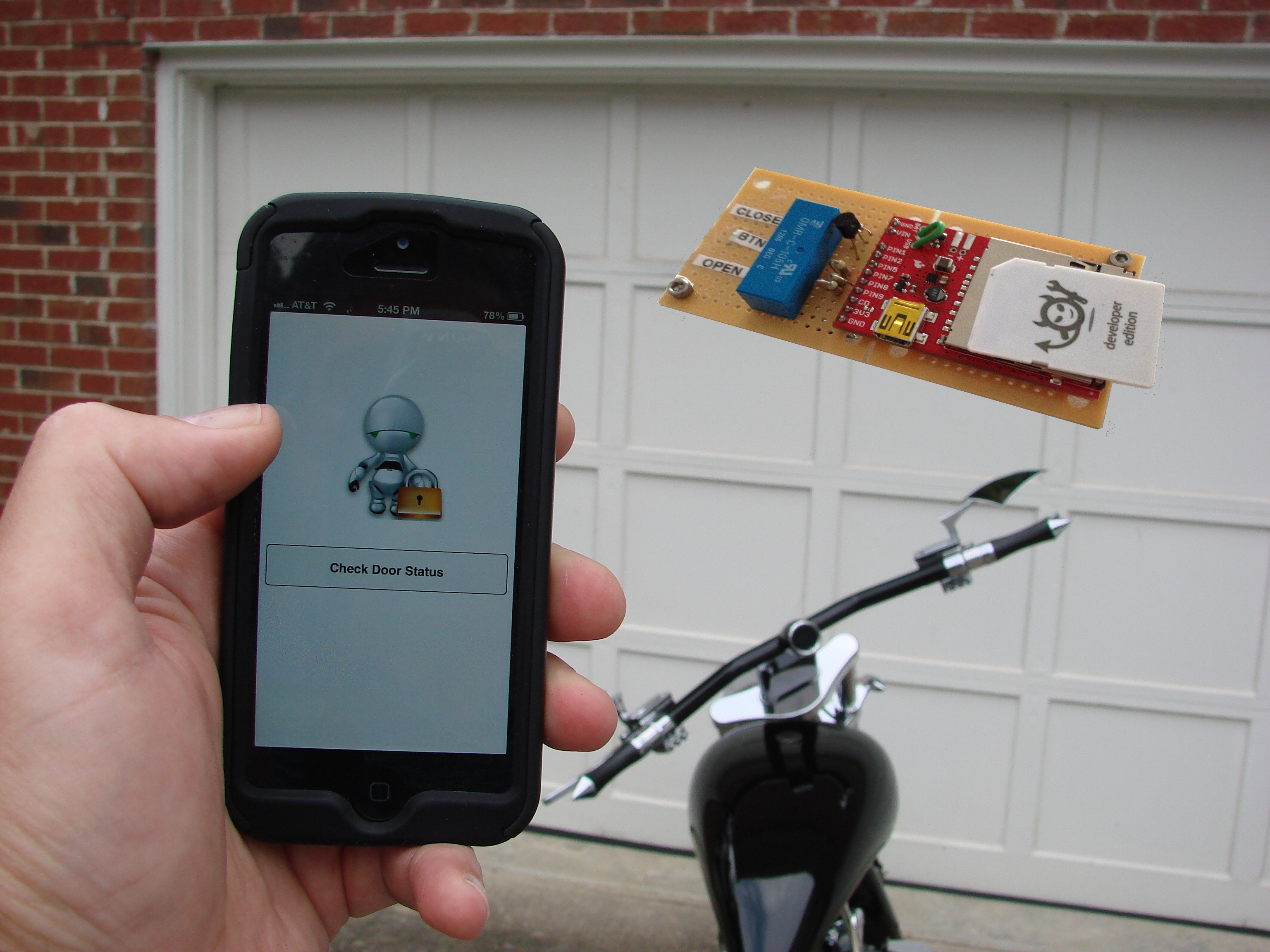 Electric Imp Garage Door Opener