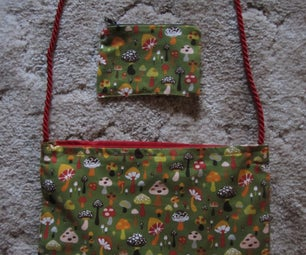 Lined Bag With Handle and Matching Zipper Coin Purse