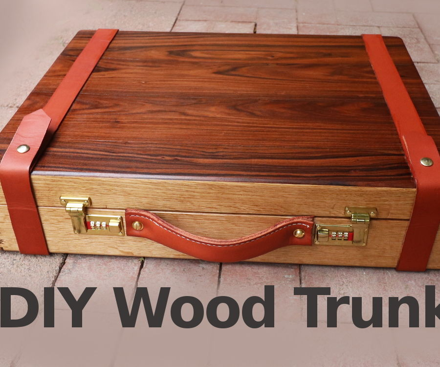 Awesome Wooden Trunk W/ Rosewood for Camera Gear