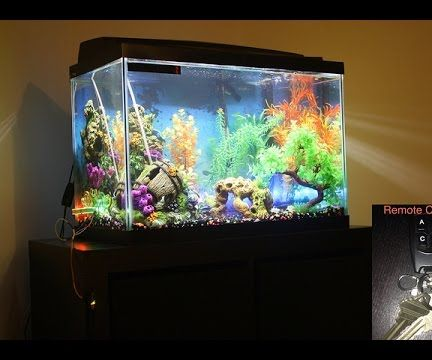 Remote Controlled Colorful LED Lights for Aquarium
