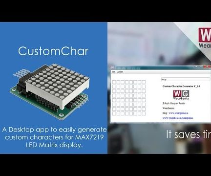 Custom Character Generator for MAX7219 based 8x8 LED Matrix