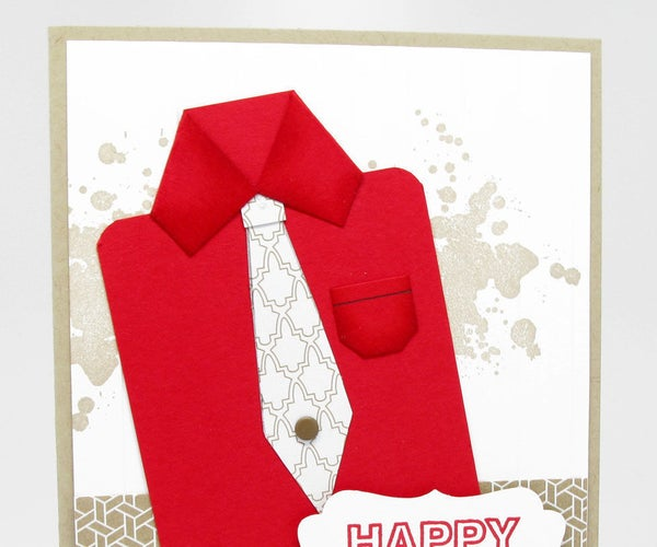 How to Make a Paper Shirt for a Father's Day Card