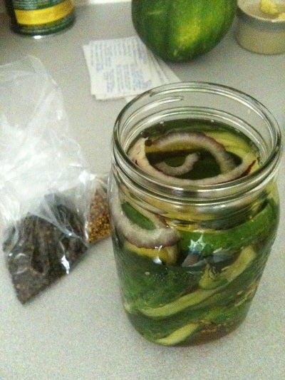 Cold Cucumber Pickles
