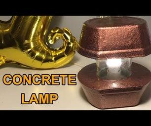 Easy Concrete Lamp