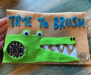是时候和鳄鱼亚历克斯刷牙了