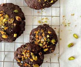 Pistachio and Salted Caramel Brownie Cookies