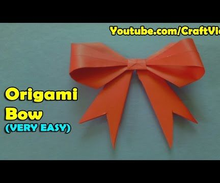 How to make an Origami Bow/Ribbon
