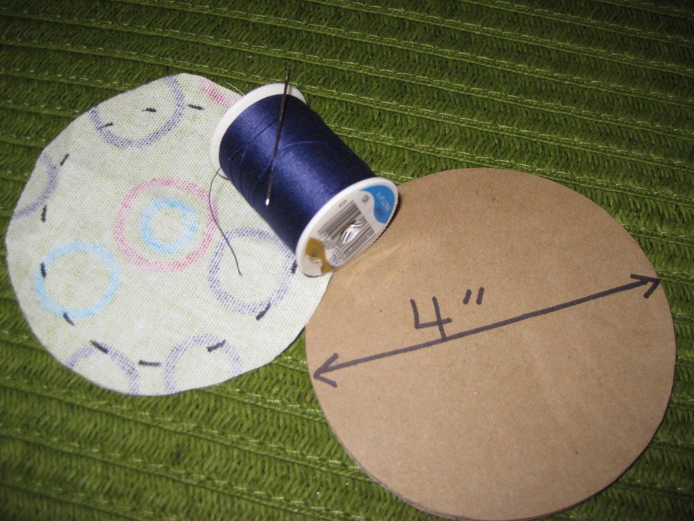 PREPARE THE FABRIC CIRCLE...Pin Cushion Top