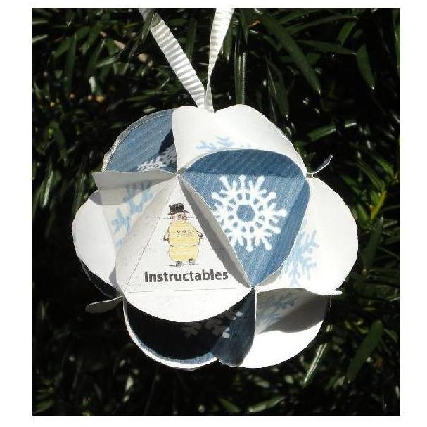 Instructables Holiday Ornament - Icosahedron