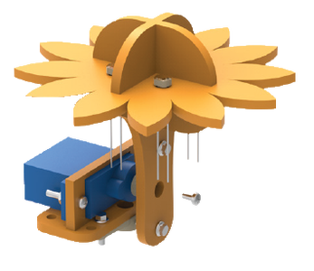 Connecting the Servo to Sunflower Assembly