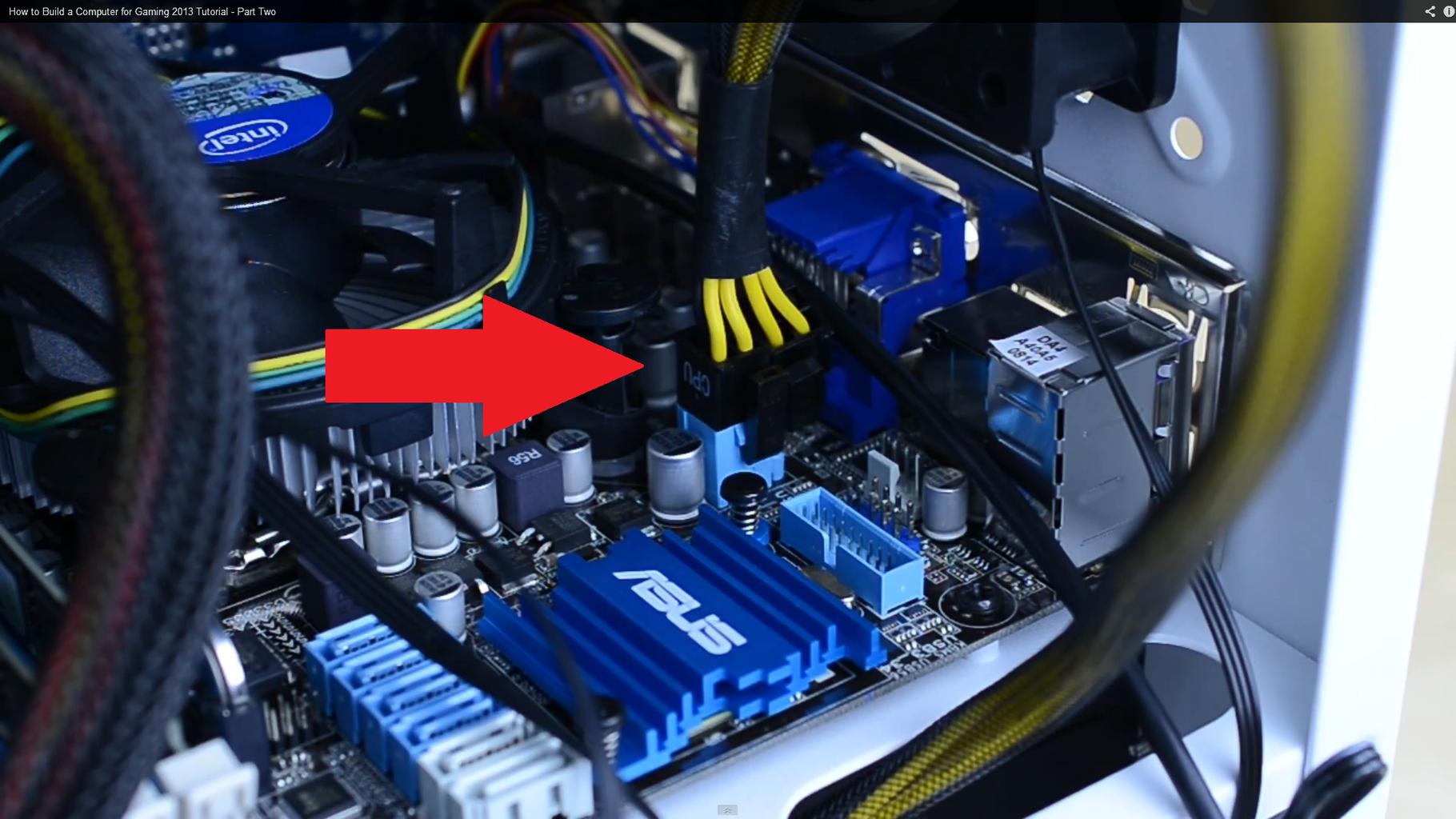 Plug CPU Power Pins In