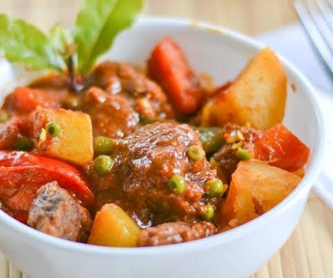 Beef Caldereta (Filipino Cuisine)