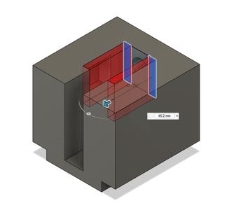 Design Process - Moving Fixture - Screw Head Cutouts