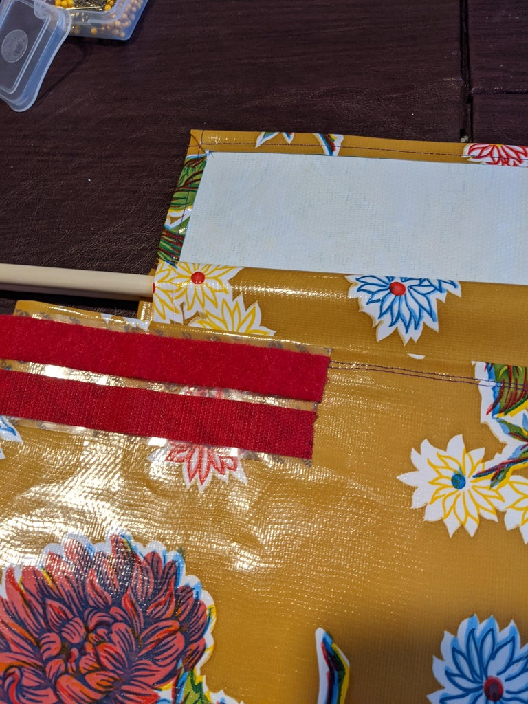 Turn the Bag Right Side Out and Add the Hook and Loop Closures.