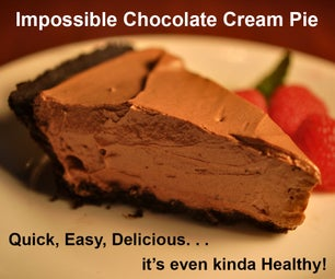世界上最简单的巧克力奶油馅饼也是最健康的,而且很美味。