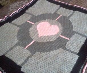 How to Crochet a Portal Companion Cube Throw Blanket