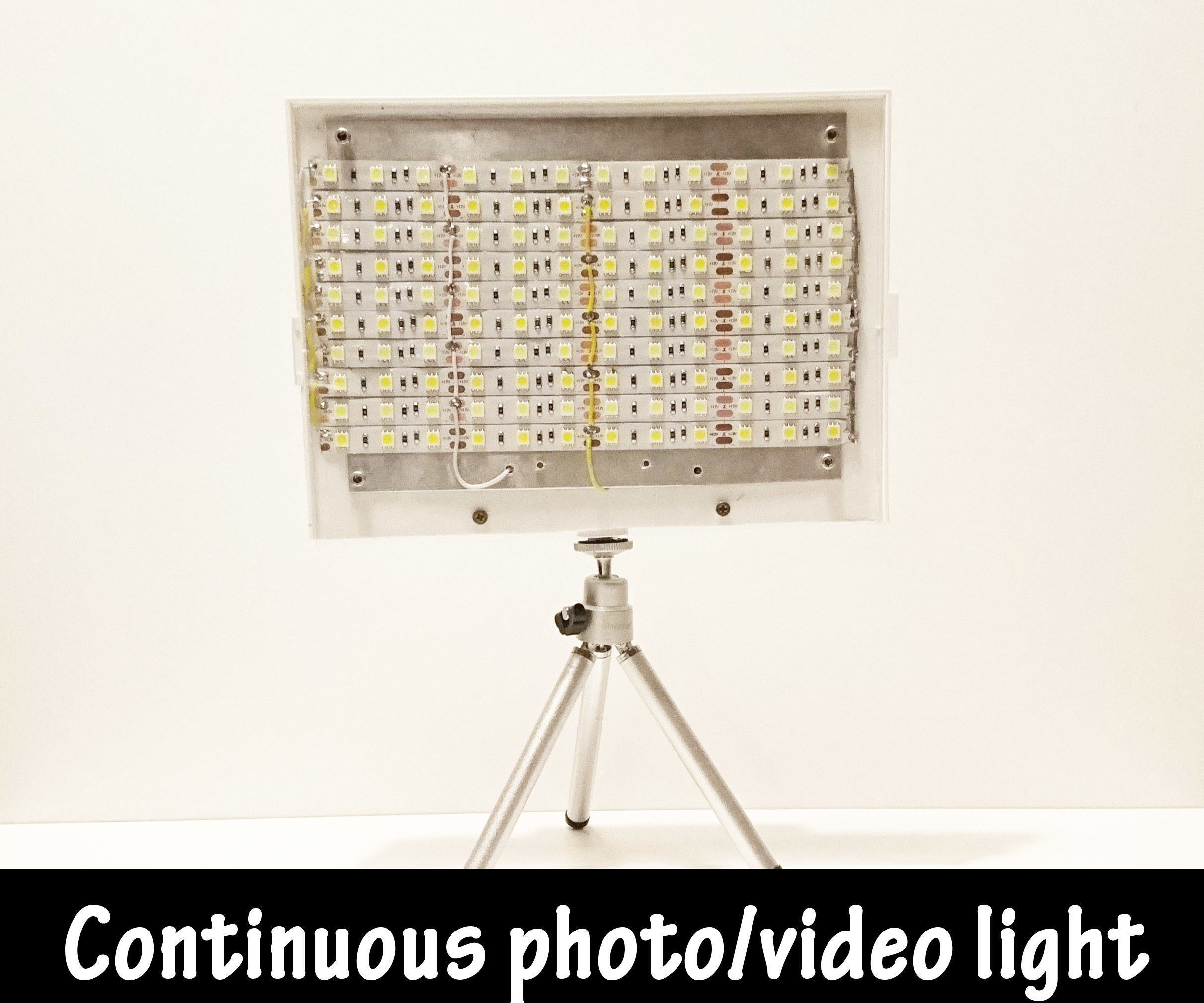 Warm/Cold adjustable continuous lighting