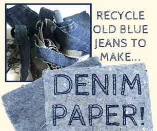True-Blue Recycled Paper From Old Jeans
