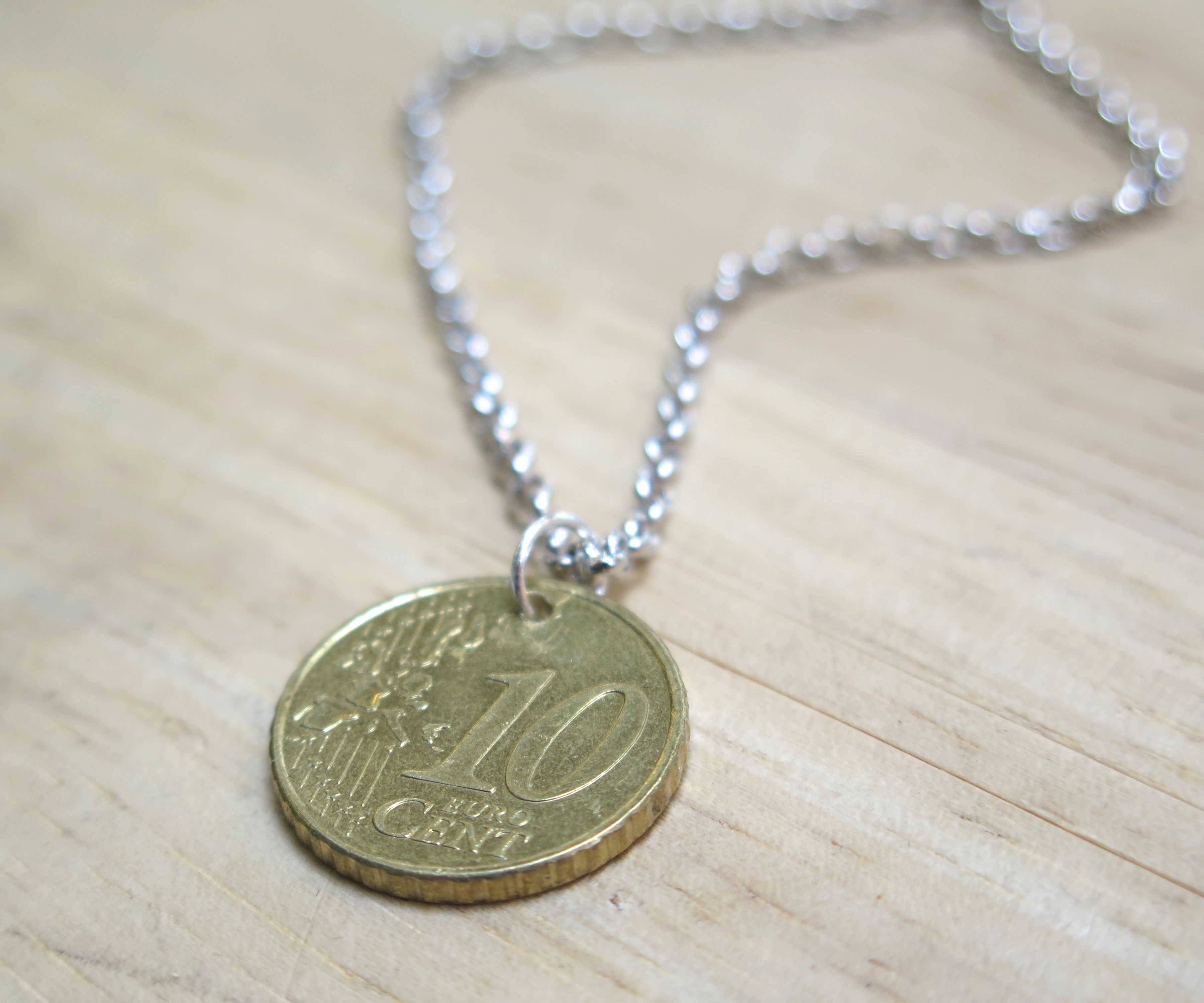 How to make a coin into a pendant