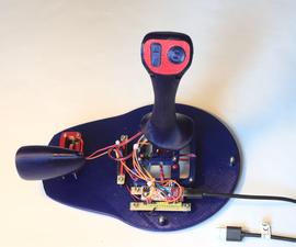 3D Printed USB Flight Controller / Joystick With Four Axes