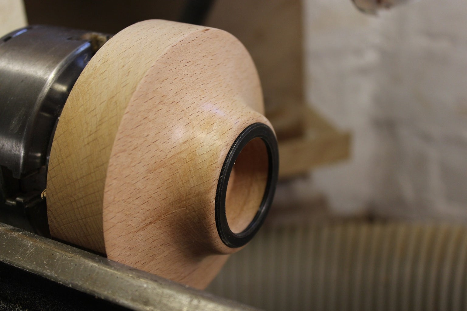 Cut That Sweet Sweet Curve Also Hollow for the Lamp Fitting