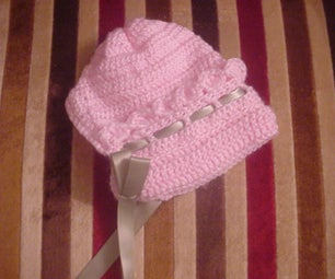 Cute Pink Bonnet, Sweater and Blanket
