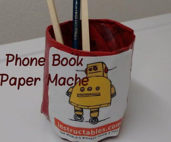 Phone Book Paper Mache