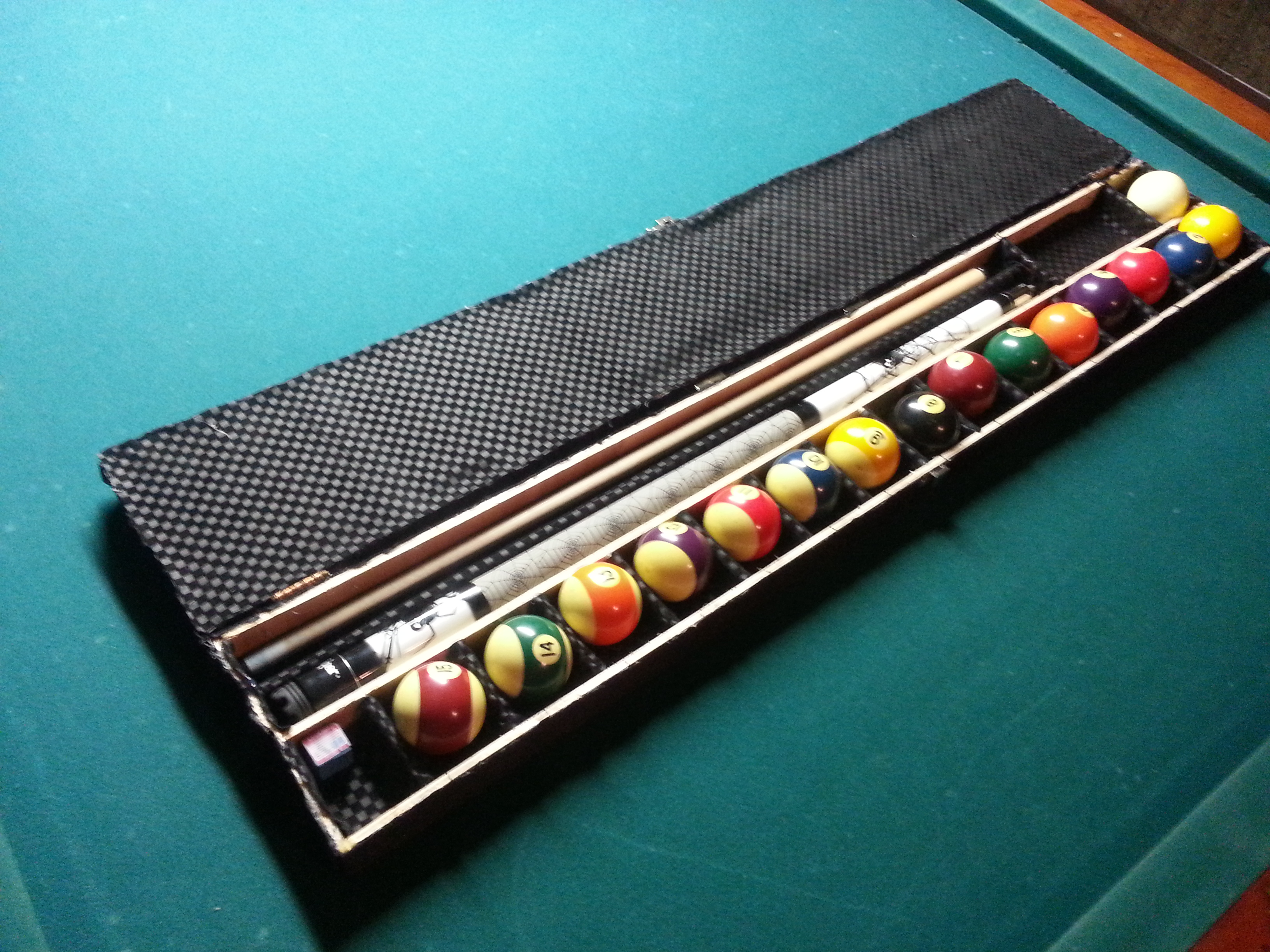 DIY pool stick and pool ball case