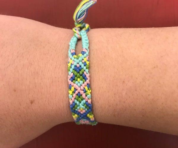 Friendship Bracelet With Teardrop Loop and Triangle Ending