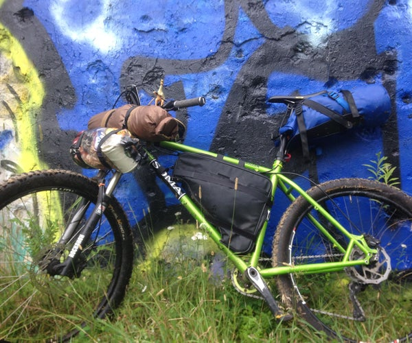Bikepacking Bags and Setup on the Cheap - How to Repurpose a Vintage Laptop Bag