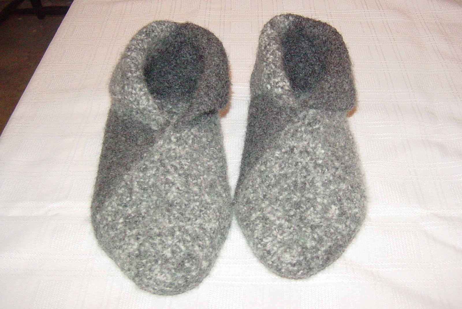 Felted Wool Slippers Crochet Or Knit Then Sew 9 Steps With Pictures Instructables