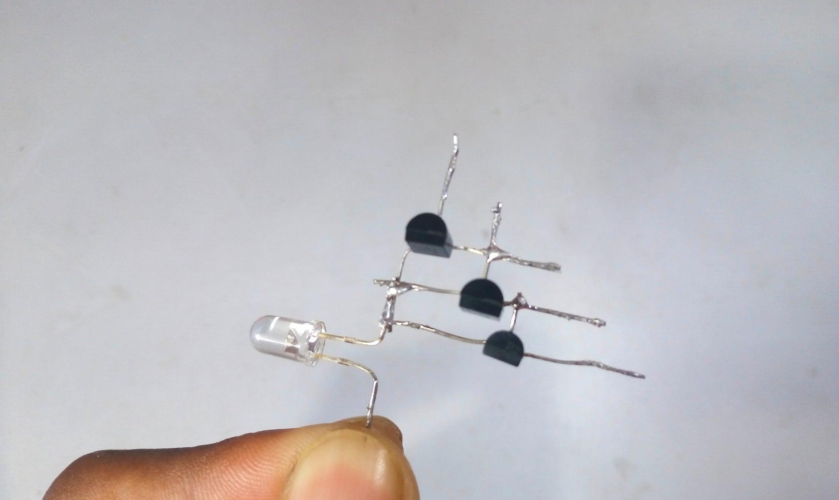 Next Solder LED and Resistor