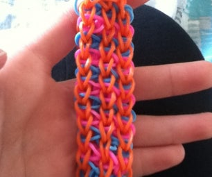 Rainbow Loom Triple Diagonal Stripe