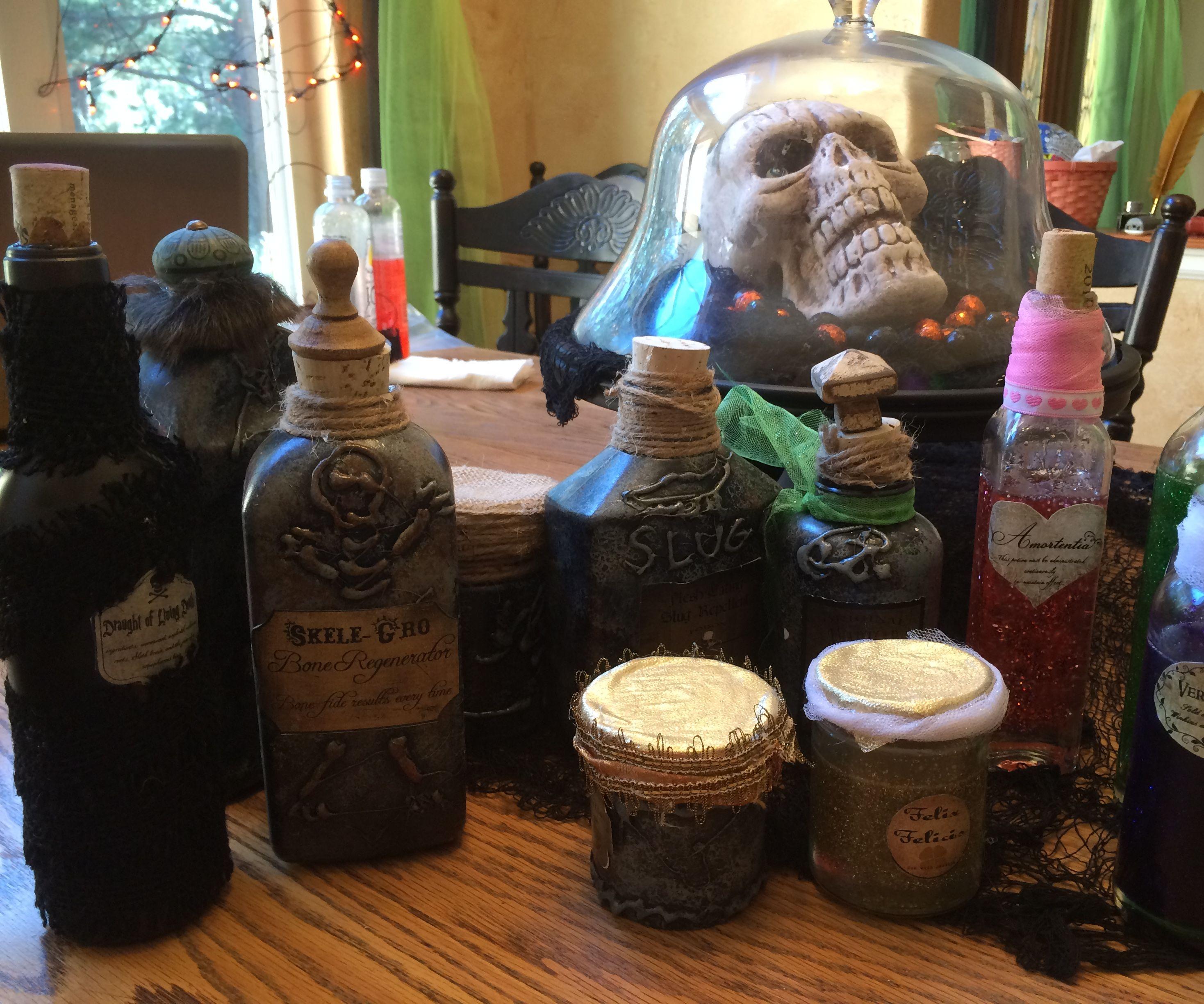 Harry Potter Apothocary Halloween Jars