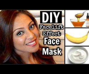 DIY Anti-Aging Facelift Facemask With 4 Ingredients │ Banana, Honey, Yogurt, & Oil