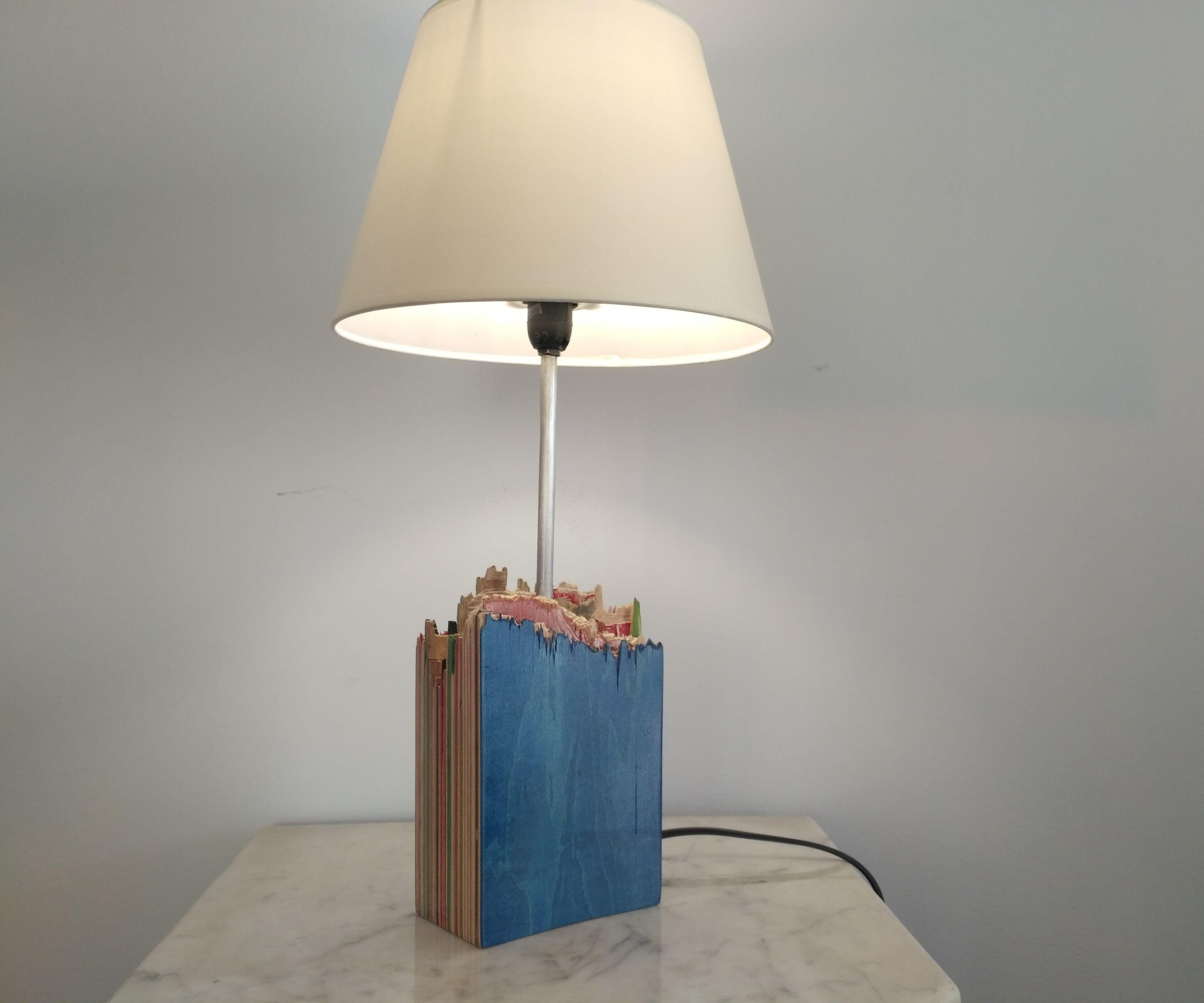Recycled Skateboard Lamp