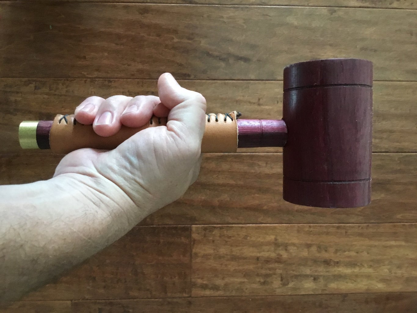 Leather Wrapped Handle.