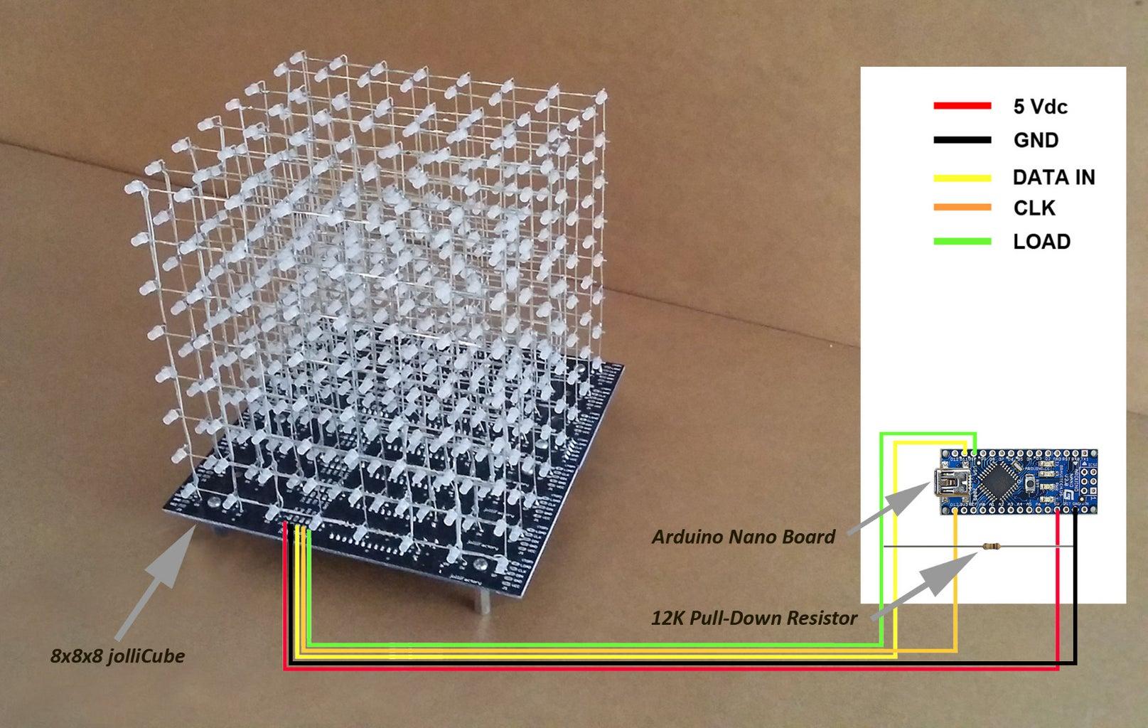 Load LED Cube Demo Program Code