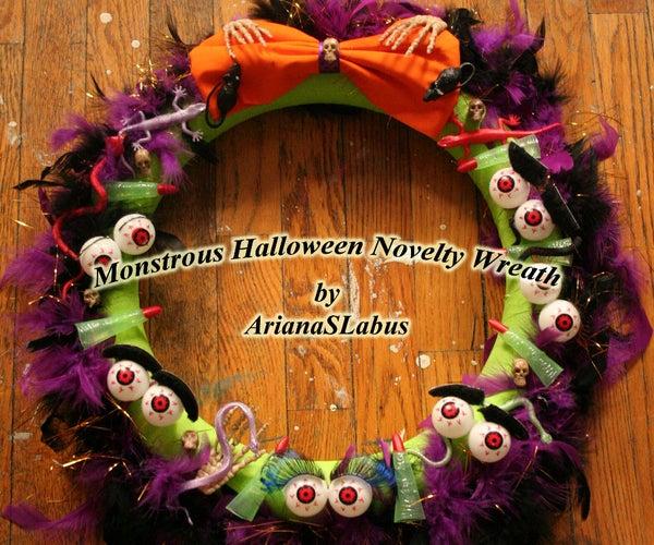 Monstrous Halloween Novelty Wreath